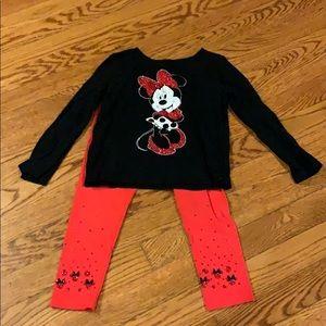 Disney Minnie mouse matching set 4T